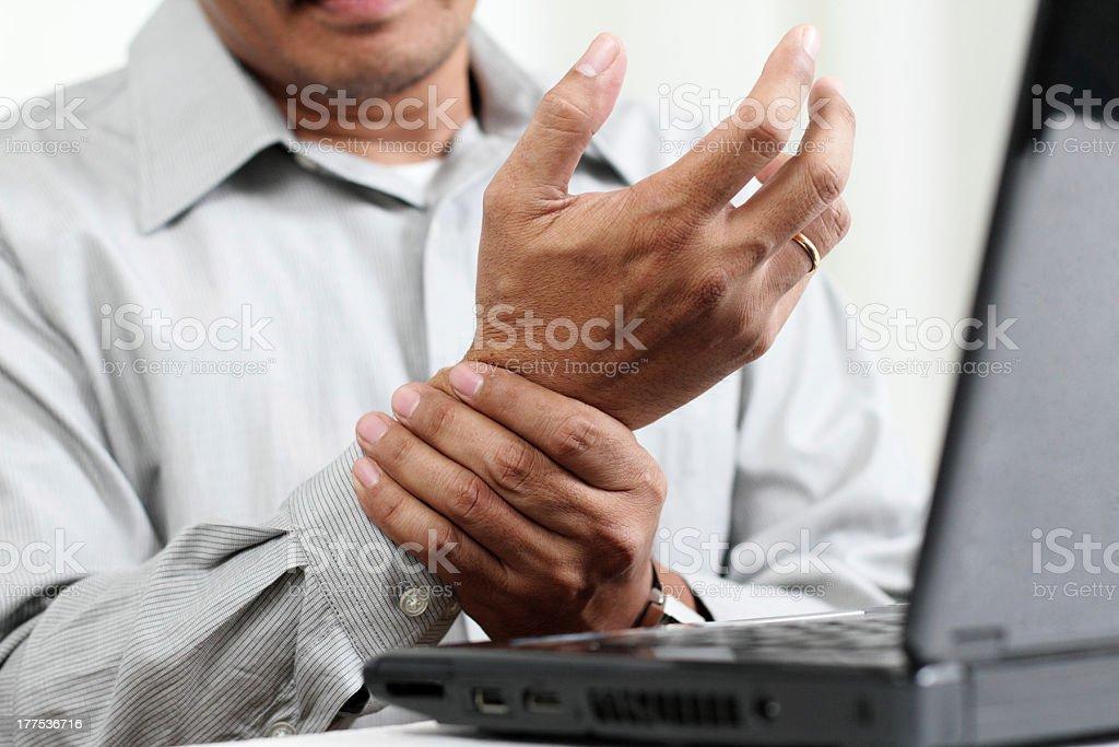 Hand Pain stock photo
