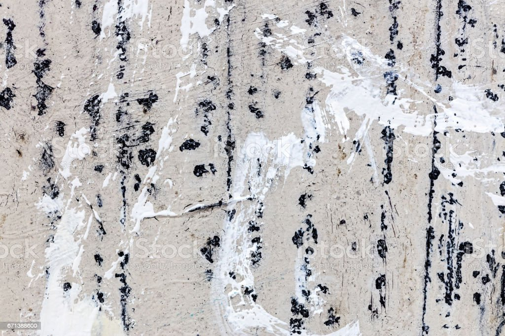 hand painted abstract canvas background with brushstrokes and blots stock photo