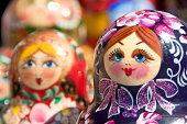 Hand painted Babushka or Matryoshka Russian Nesting dolls