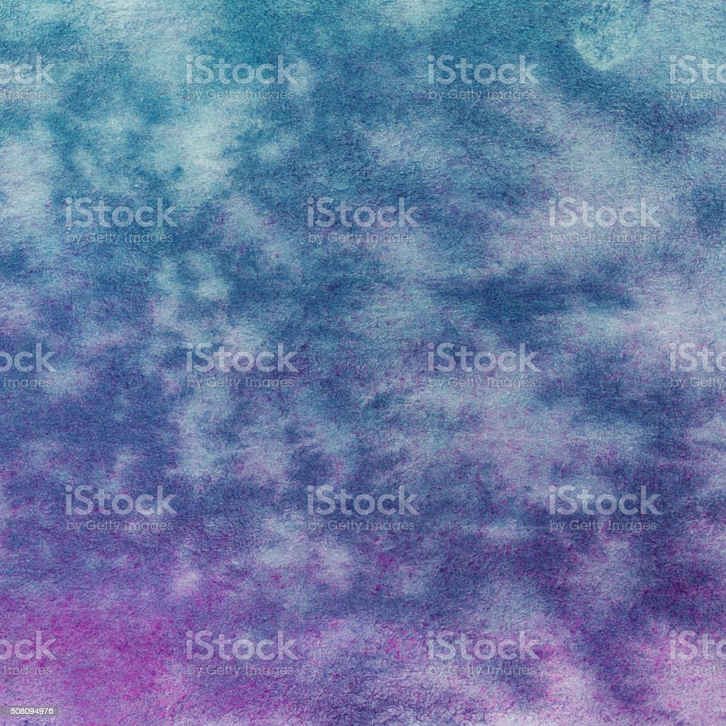 Hand painted blue and purple mottled color gradient background vector art illustration