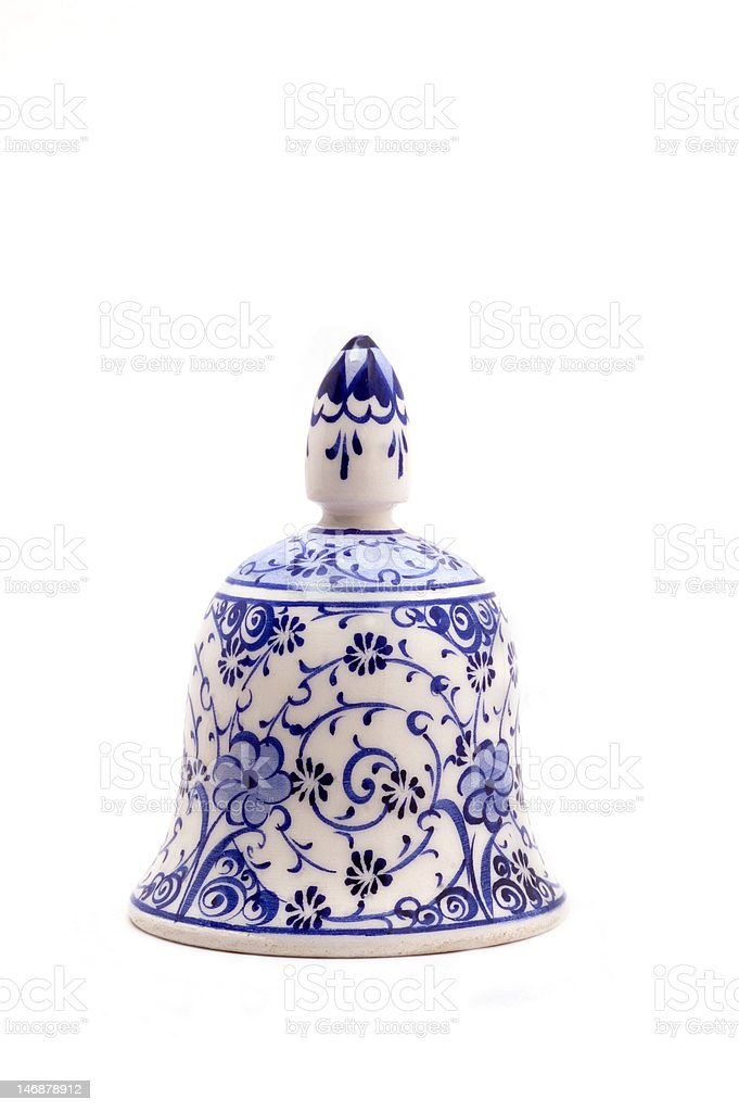 Hand painted ceramic bell royalty-free stock photo