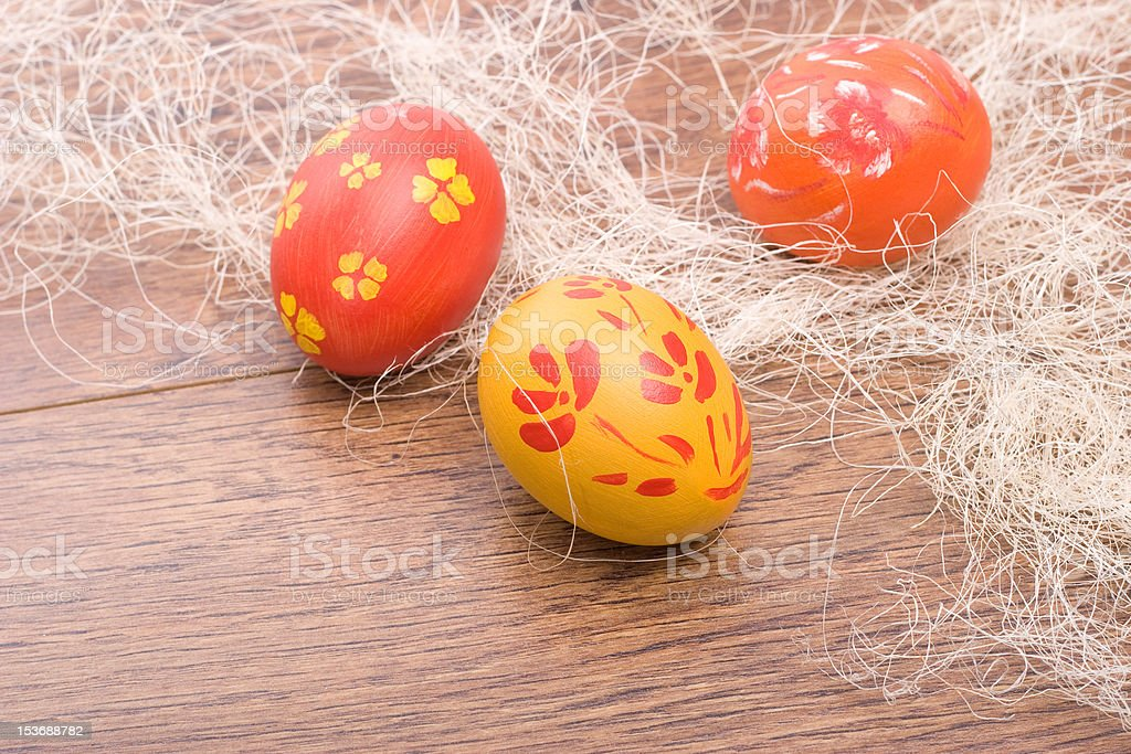hand painted Easter eggs stock photo