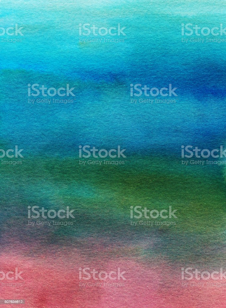 Hand painted gradient background with multiple colors stock photo