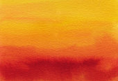 Hand painted gradient of red orange and yellow