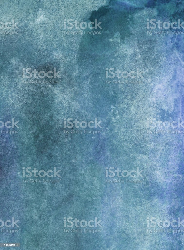 Hand painted marbled blue gray background vector art illustration