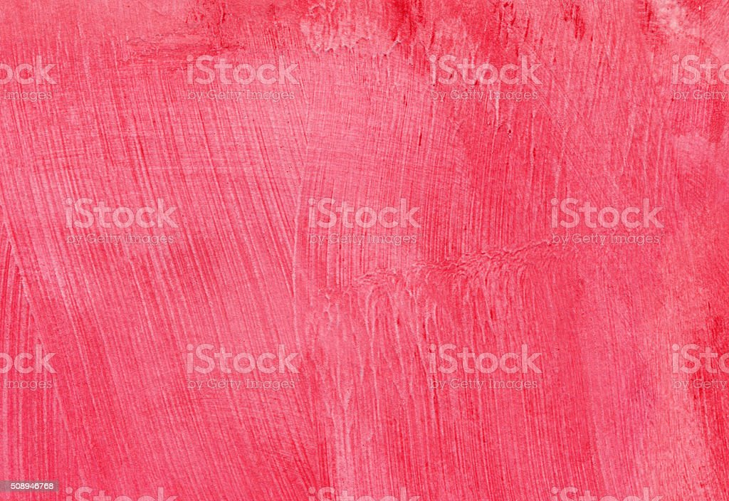 Hand painted pink background with texture of brush strokes stock photo