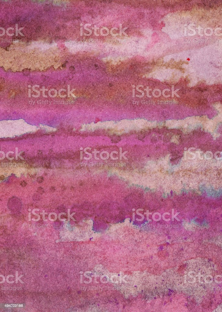 Hand painted textured lines with shades of pink and brown vector art illustration