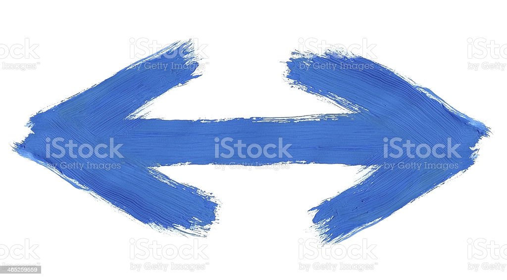 hand painted two way arrow royalty-free stock photo