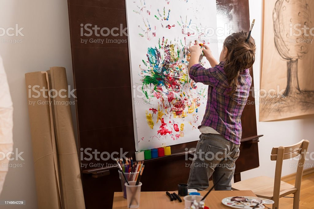 Hand painting royalty-free stock photo
