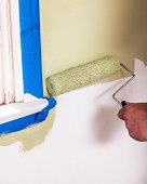 Hand Painting Wall Near Window