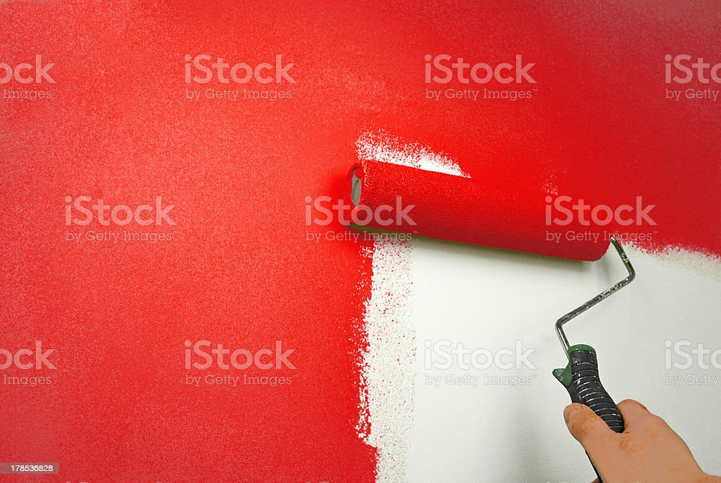 hand painting wall royalty-free stock photo