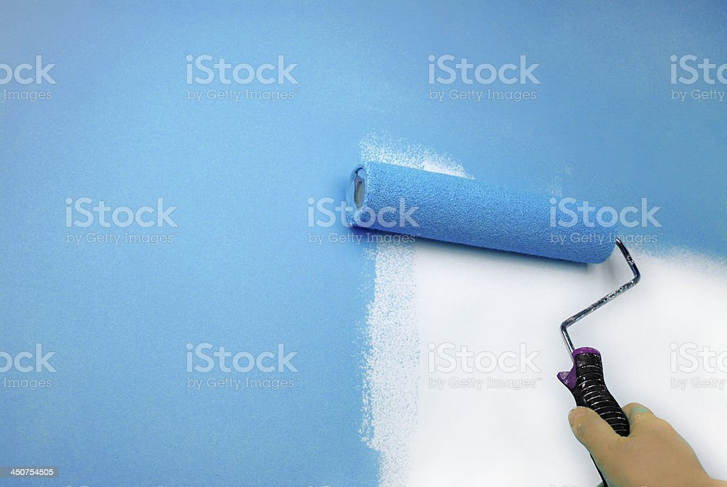 hand painting wall stock photo