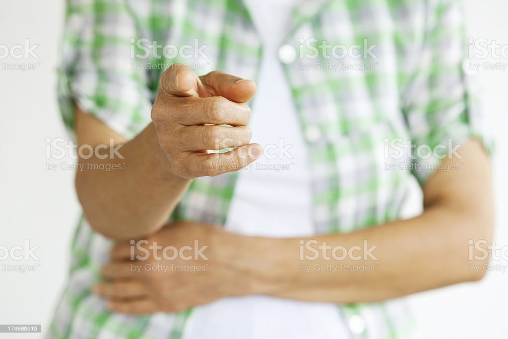 hand pointing at you royalty-free stock photo