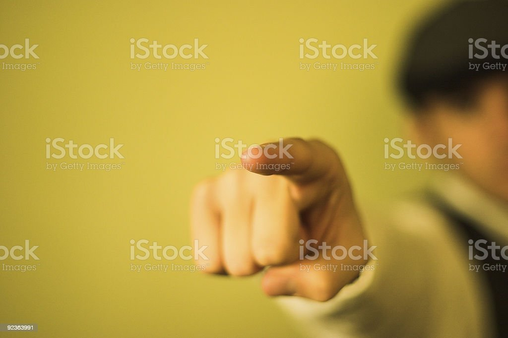 Hand Pointing royalty-free stock photo