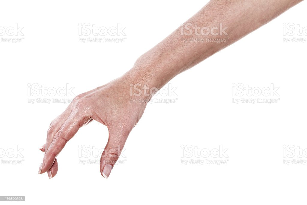 Hand pose like picking something stock photo