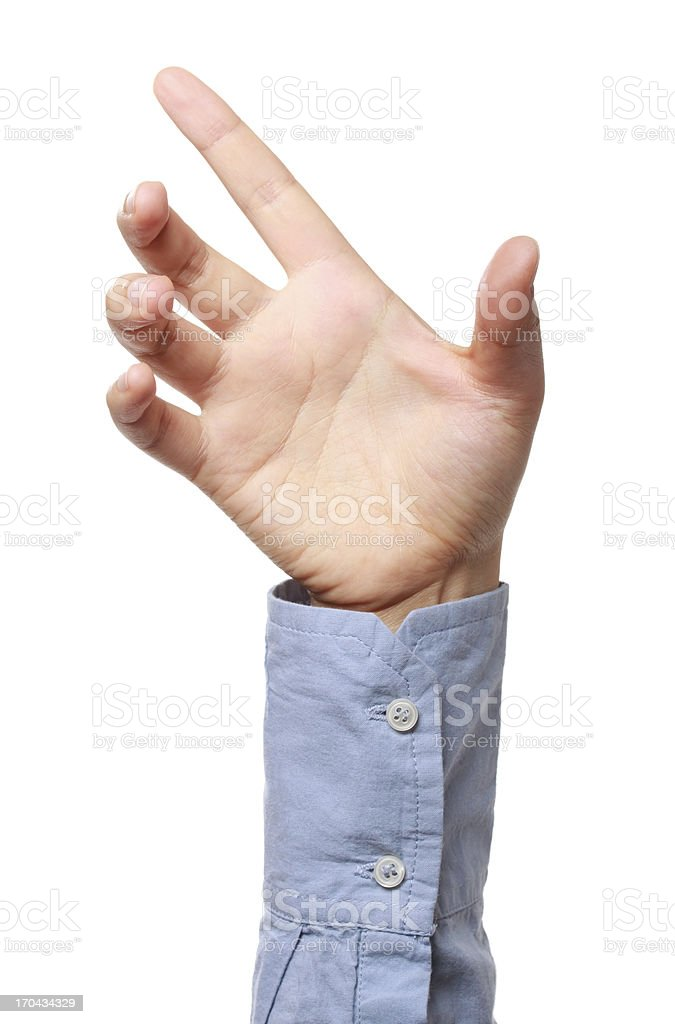 Hand Positioned to Hold a Product royalty-free stock photo