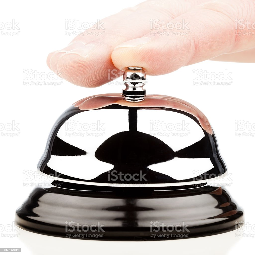 Hand Pressing Service bell royalty-free stock photo