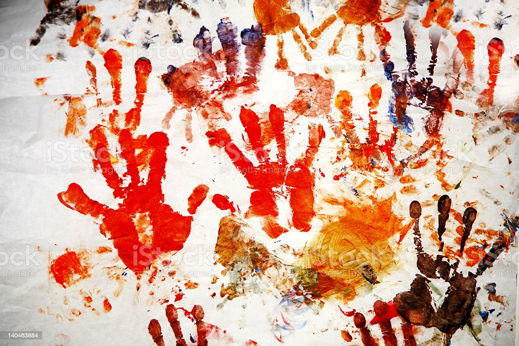 hand prints royalty-free stock photo