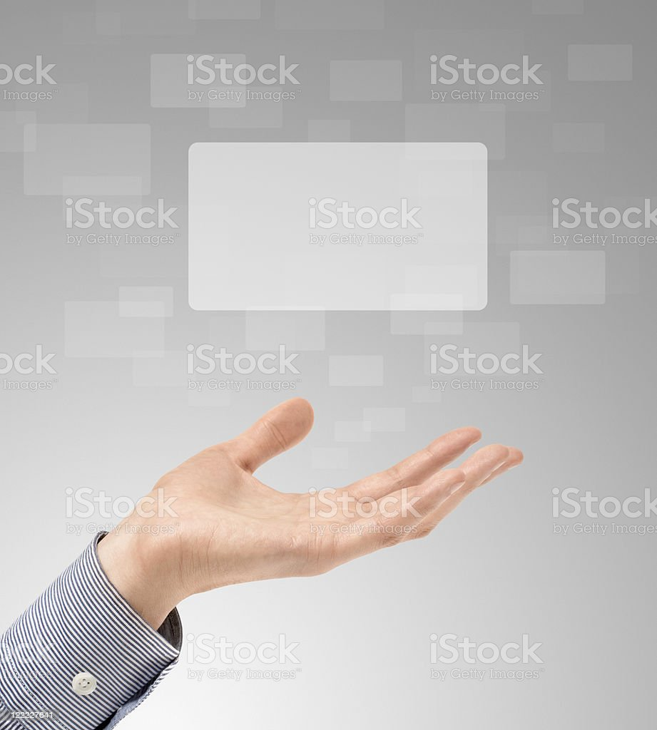 Hand Propose Touch Screens royalty-free stock photo