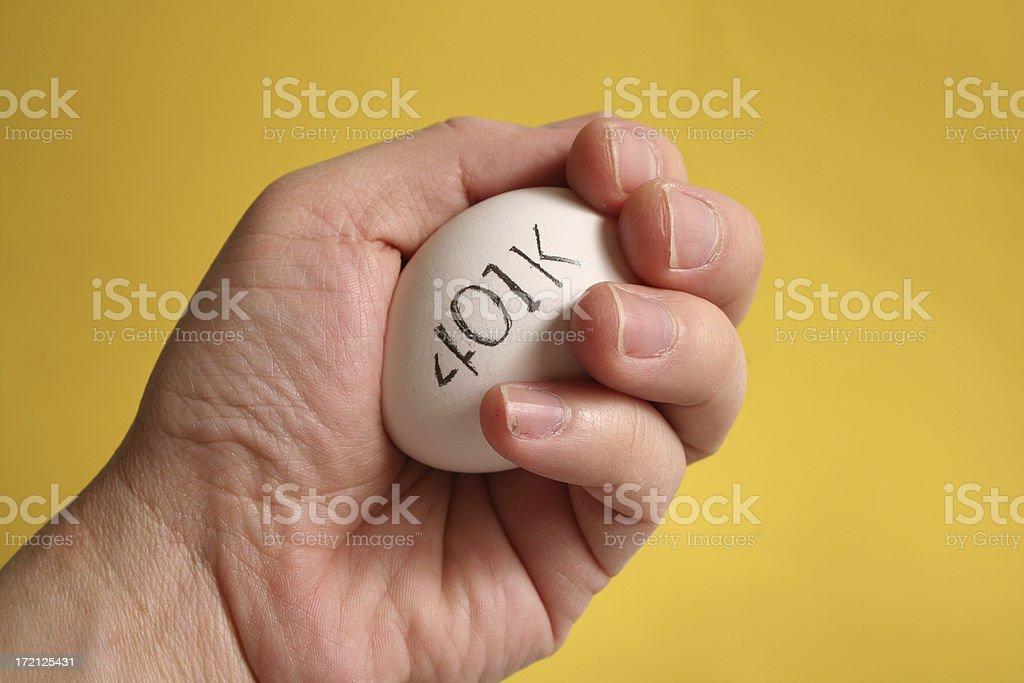 Hand Protecting Egg royalty-free stock photo