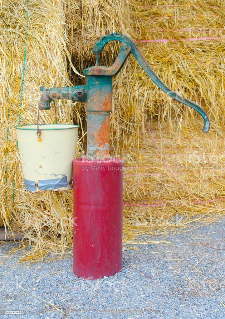 Hand pumps stock photo