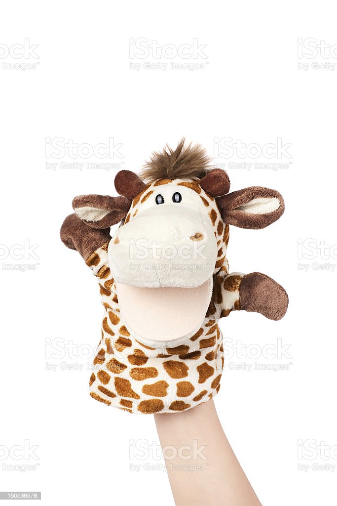 hand puppet royalty-free stock photo
