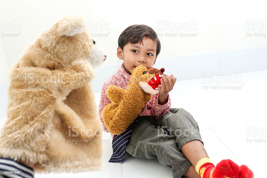 Hand puppet stock photo