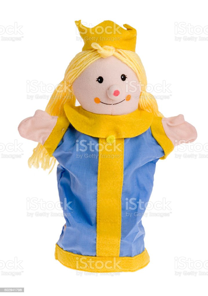 Handpuppe Prinzessin - Puppentheater stock photo
