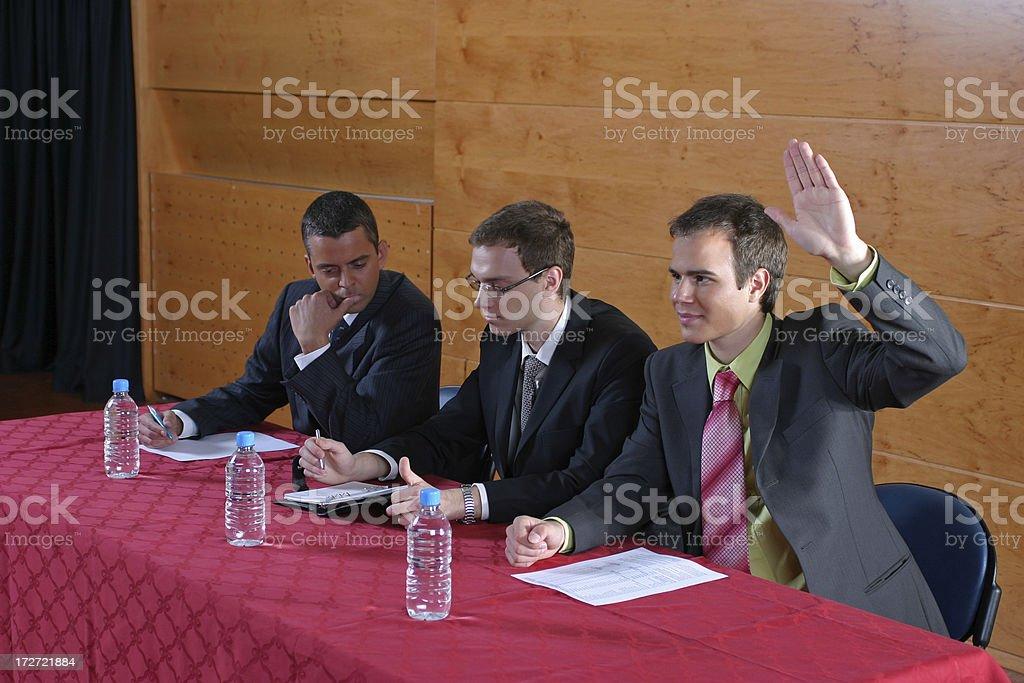 Hand raised royalty-free stock photo