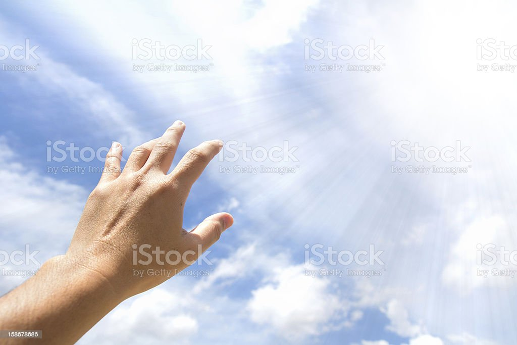 Hand reaching out royalty-free stock photo