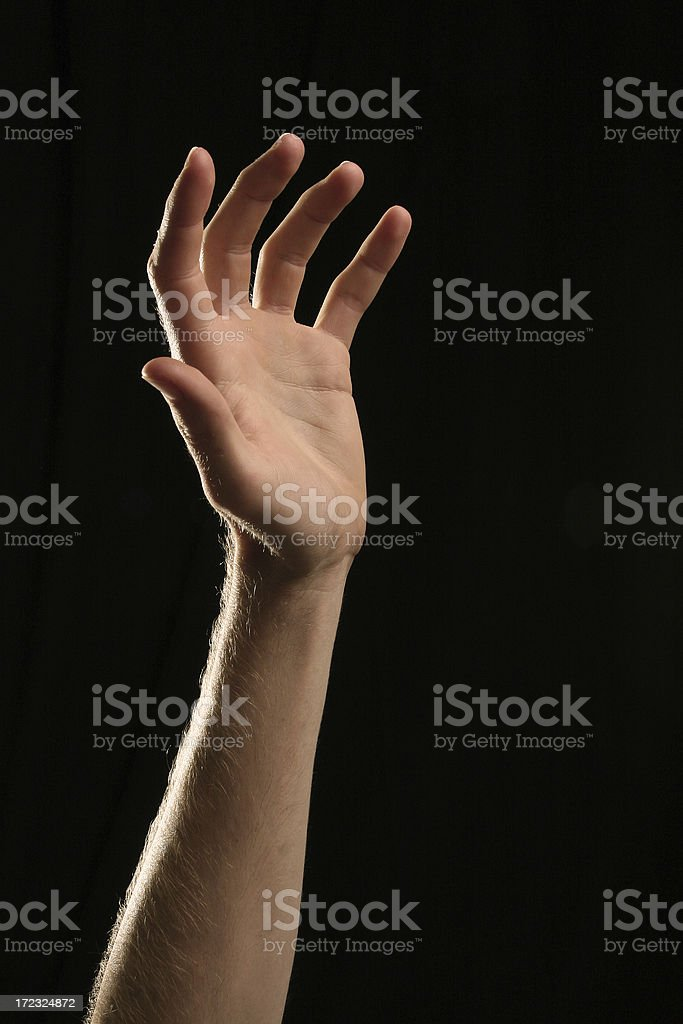 Hand Reaching Up For Help royalty-free stock photo