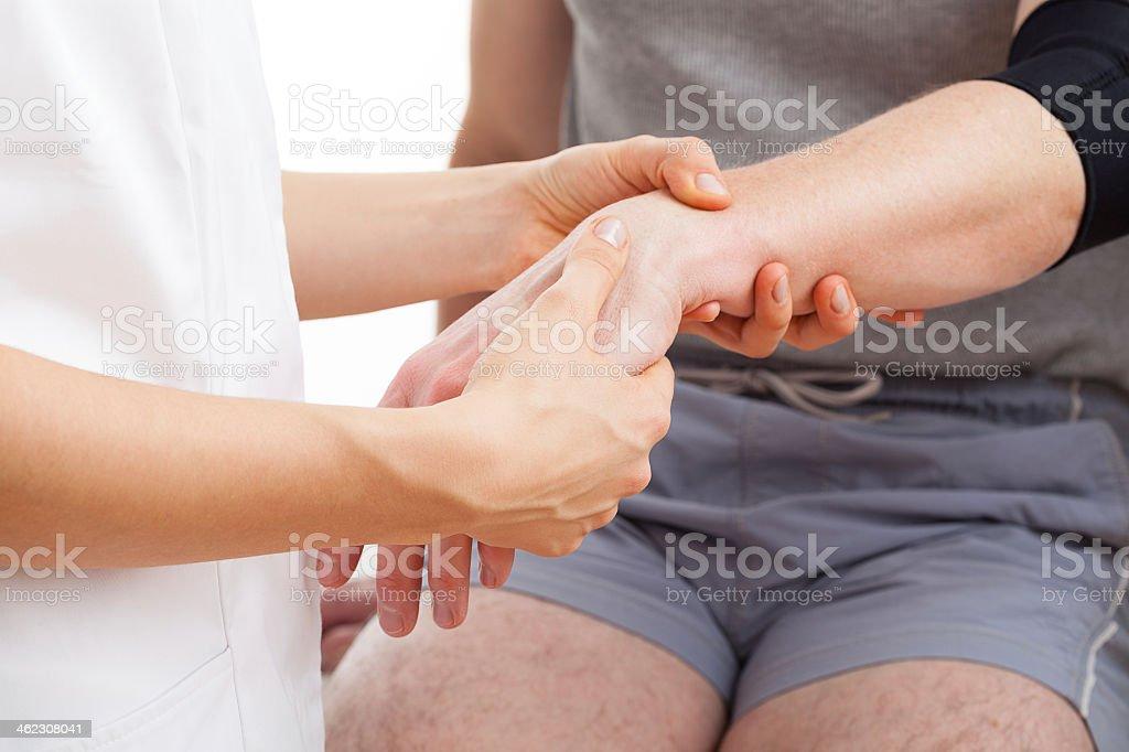Hand rehabilitation stock photo