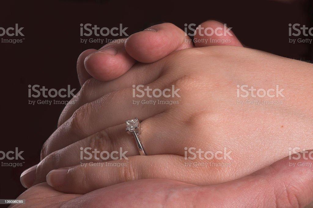 Hand & ring stock photo