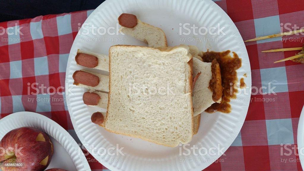 Hand Sandwich stock photo