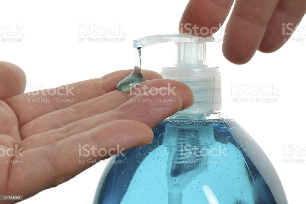 Hand sanitizer stock photo