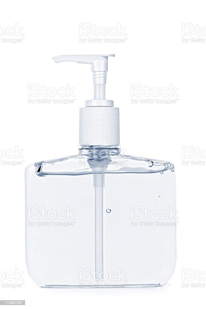 Hand sanitizer pump bottle stock photo