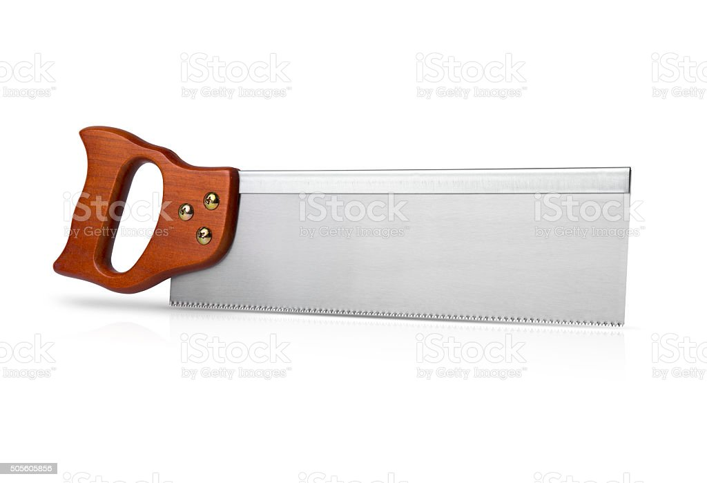Hand Saw with Clipping Path stock photo