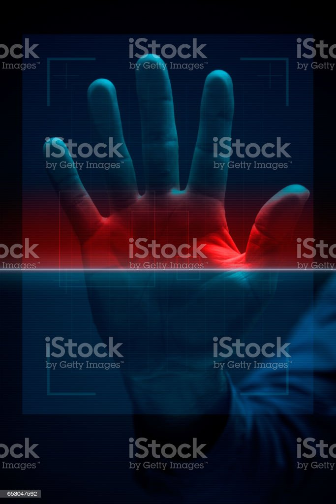 Hand scanner stock photo