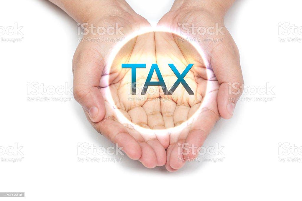 TAX - Hand Series stock photo