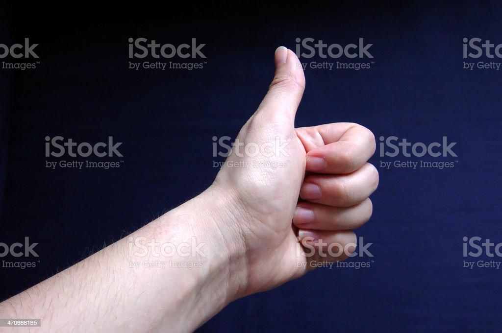 hand series- thumbs up stock photo