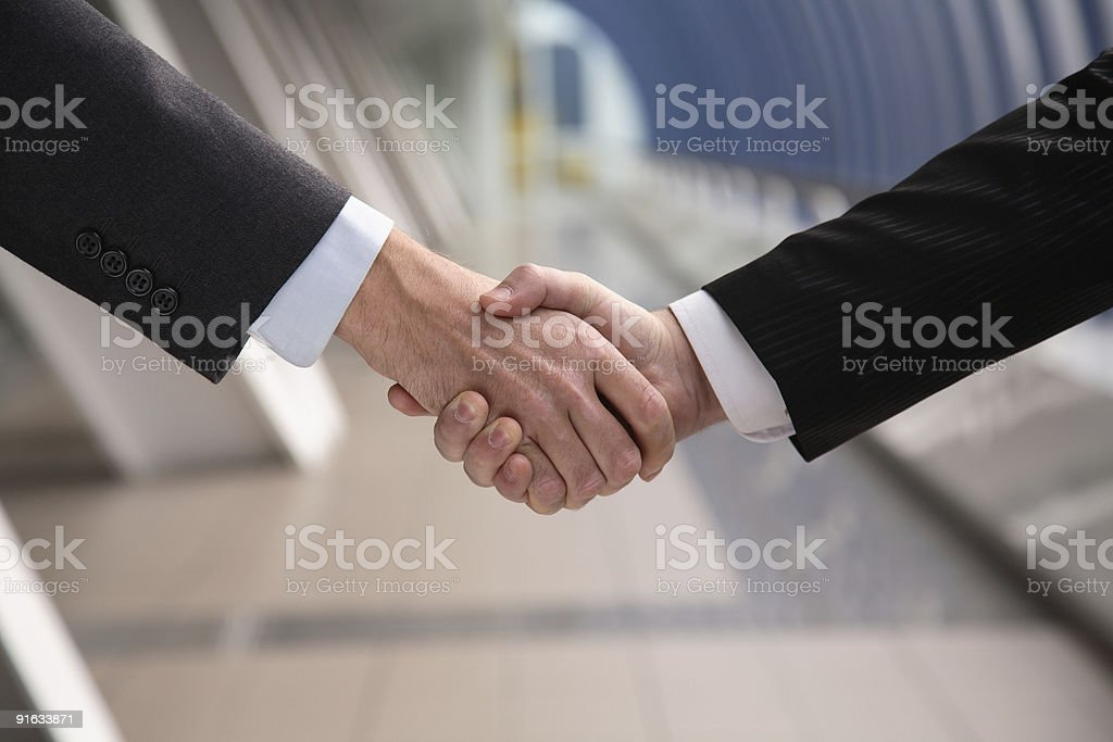 Hand shake. royalty-free stock photo