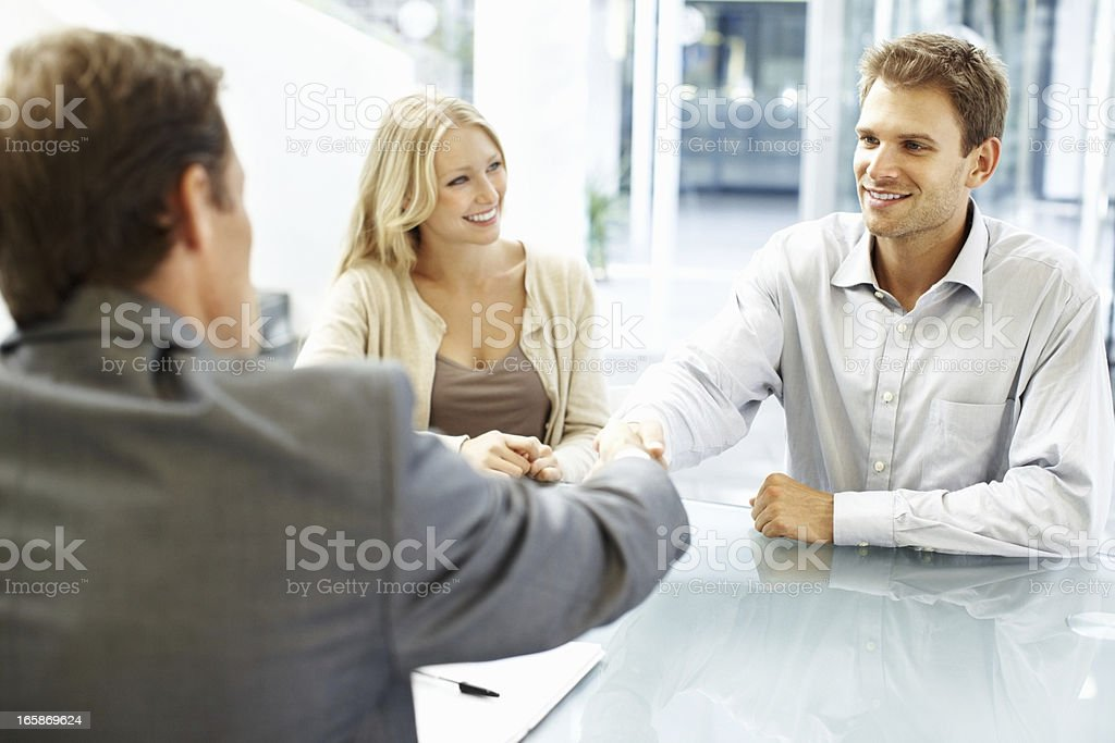 Hand shaking after a successful meeting royalty-free stock photo