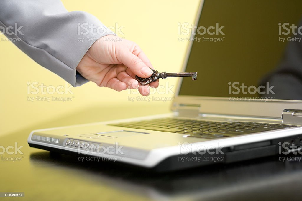 Hand showing key royalty-free stock photo