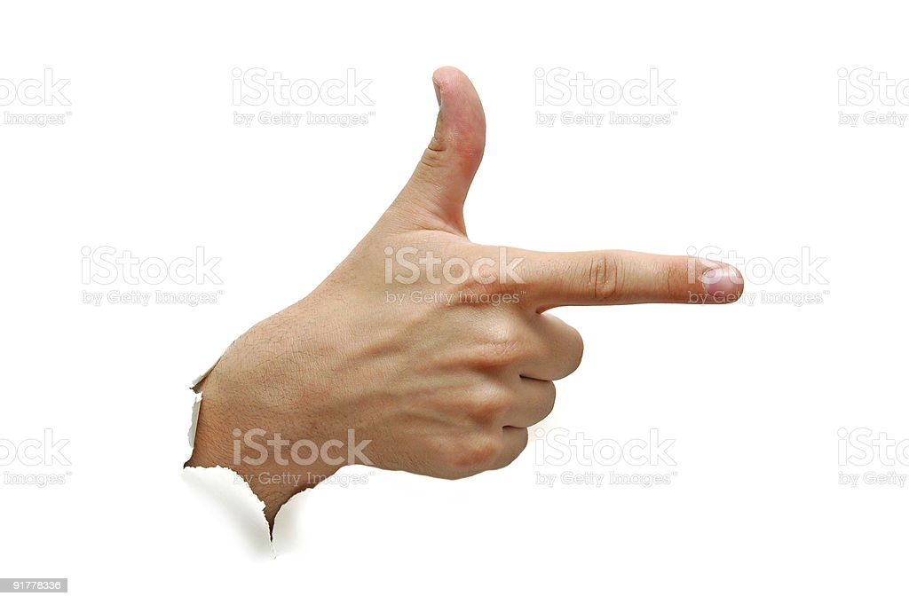 Hand showing sign royalty-free stock photo