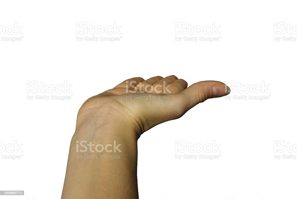 hand showing something royalty-free stock photo
