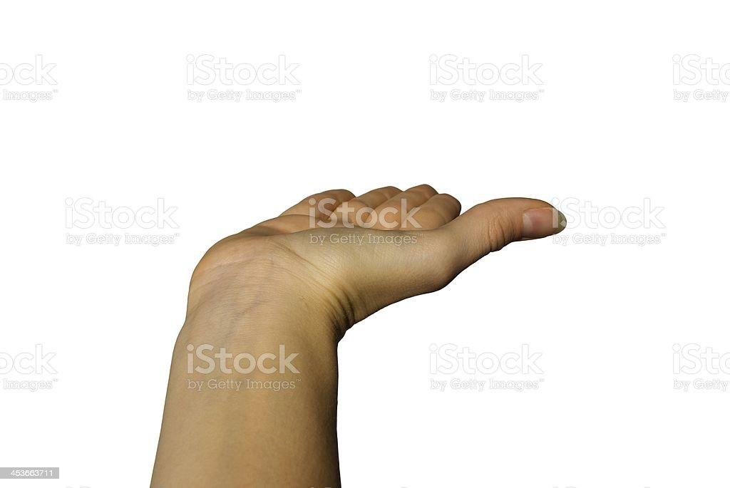 hand showing something stock photo