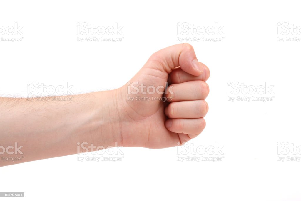 Hand sign for rock in child's game royalty-free stock photo