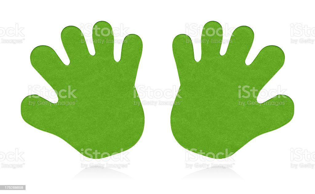 Hand sign isolated (Clipping path!) royalty-free stock photo