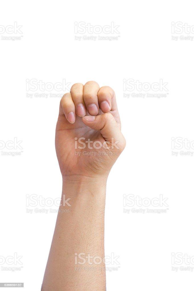 hand sign Language stock photo