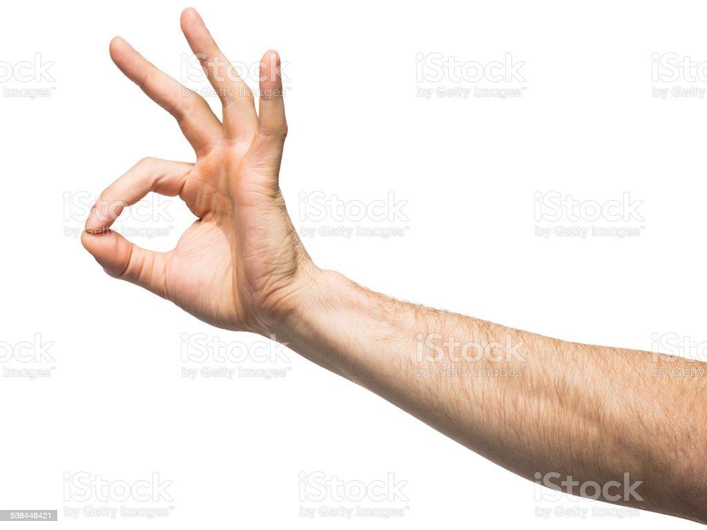Hand sign ok stock photo